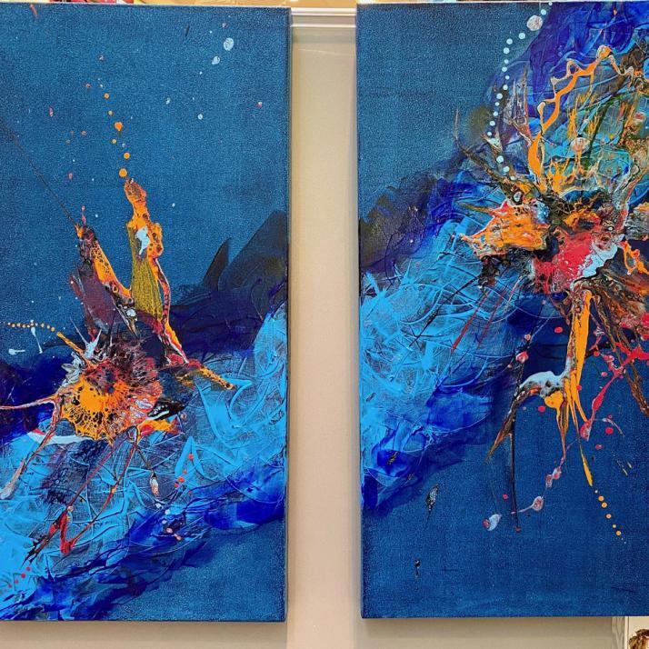 Abstrakte Malerei von Katrin Peifer