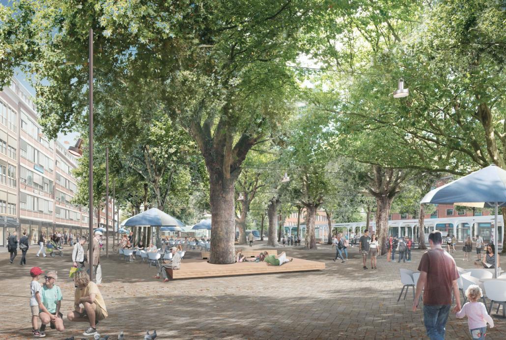 So könnte die Holstenstraße der Zukunft aussehen.