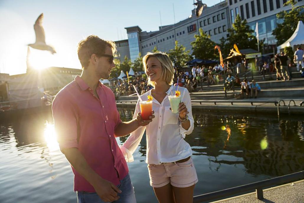 Viele Veranstaltungen des Kultursommers finden direkt am Wasser statt.