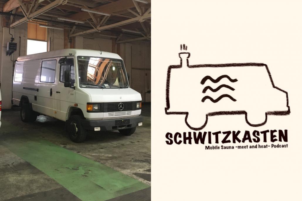 Aus dem alten Mercedes wird in der Strandfabrik eine coole, flexible und mobile Sauna für Kiel