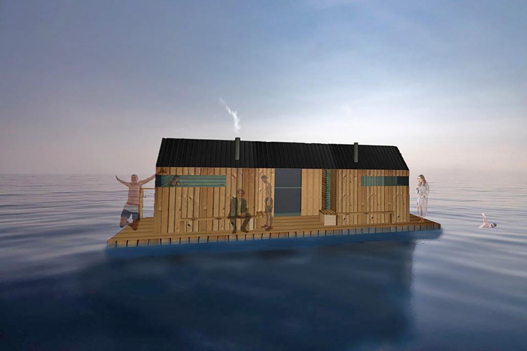 Kommt die schwimmende Sauna für Kiel?