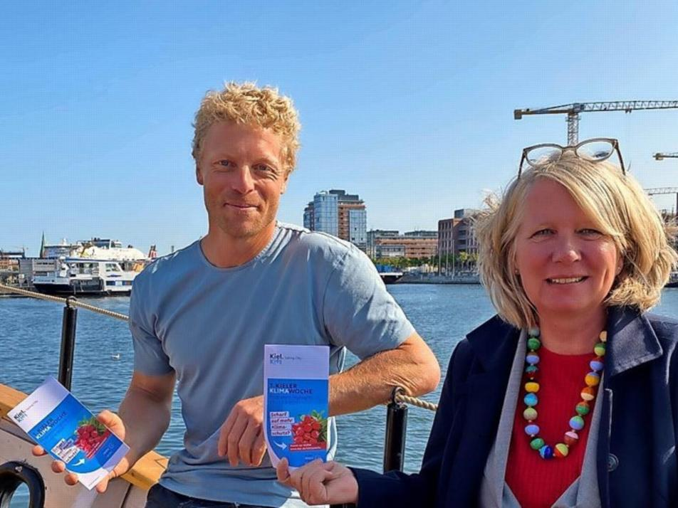 Botschafter Michael Walther und Umweltdezernentin Doris Grondke freuen sich auf die 1. Kieler Klimawoche