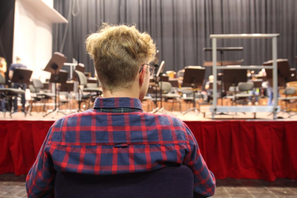 Vor Prüfungen und Auftritten geht Lukas alle Abläufe vor seinem inneren Auge durch.