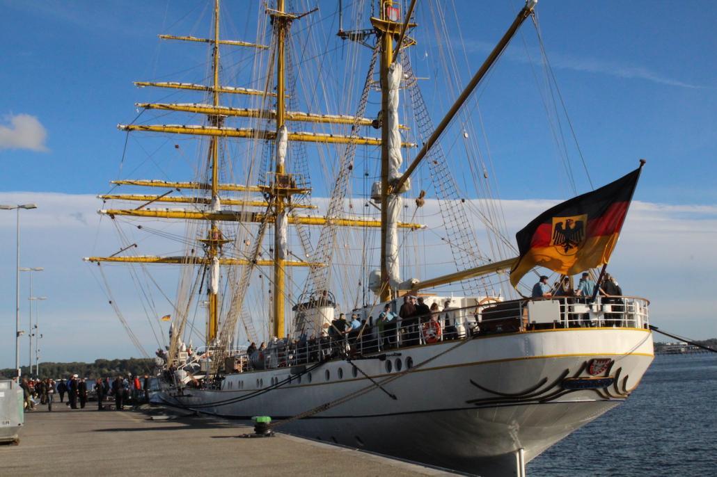 Gorch Fock zurück im Kieler Heimathafen