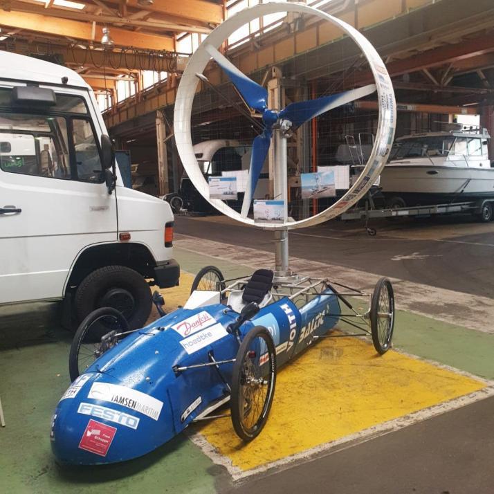 Das Auto von Baltic Thunder, das ein Projekt der FH Kiel ist, zeigt die Nutzbarmachung von Wind für Mobilität