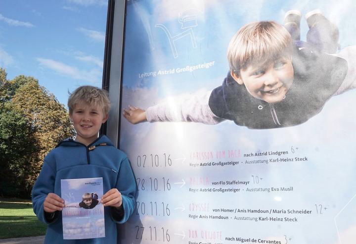 Jasper, der fliegende Junge vom Plakat