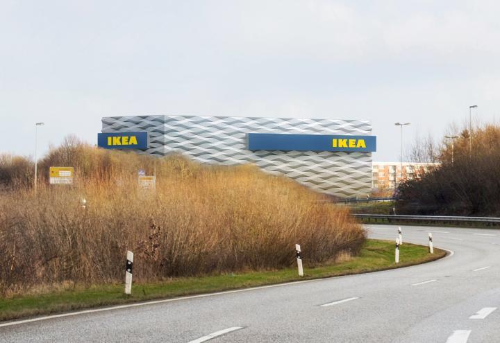 Entscheidung im Fassadenwettbewerb für IKEA Kiel