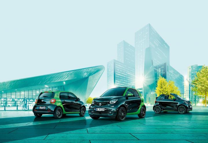 Exklusive Probefahrt des smart electric drive