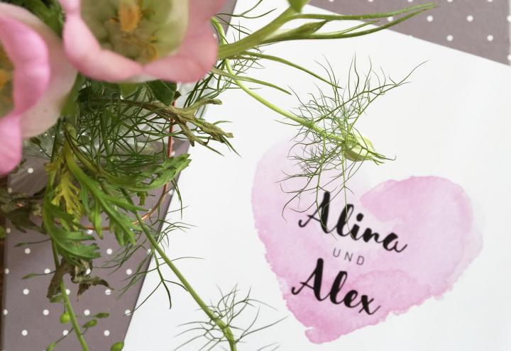 Wunderschöne Einladungen für die Hochzeit